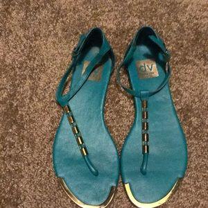Teal dolce vita sandals